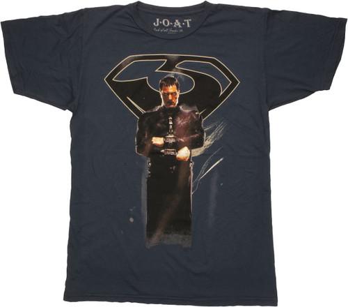Superman Man of Steel Zod Navy T Shirt Sheer