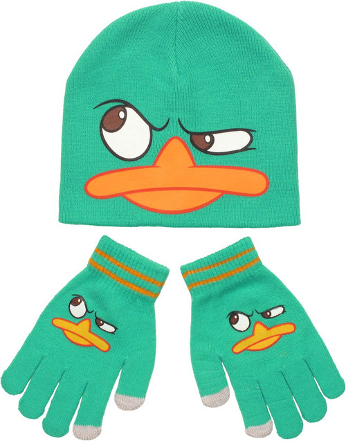 Phineas and Ferb Perry Youth Beanie Gloves Set