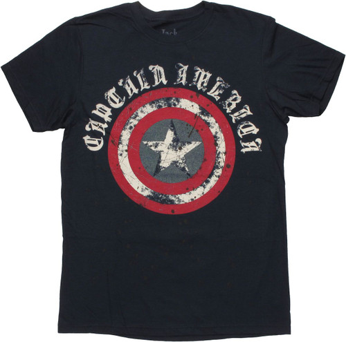 Captain America Gothic Logo T Shirt Sheer