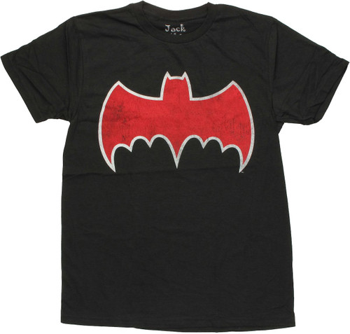 Batman Vintage Batmobile Logo T Shirt Sheer