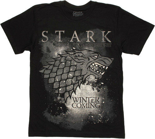 Game of Thrones Stark Winter T Shirt Sheer