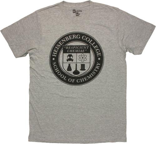 Breaking Bad College Seal T Shirt Sheer