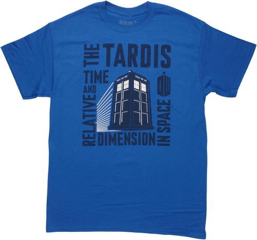 Doctor Who TARDIS Boxed Acronym T Shirt