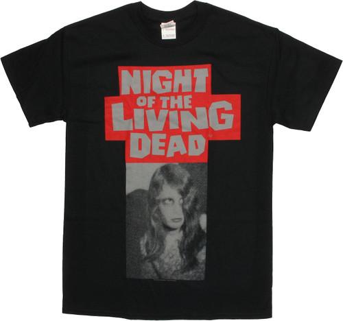 Night of the Living Dead Karen Halftone T Shirt