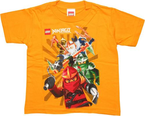 Lego Ninjago Group Attack Juvenile T Shirt