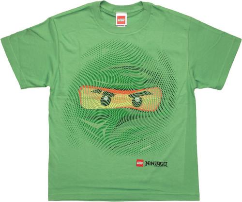 Lego Ninjago Lloyd Swirl Face Youth T Shirt