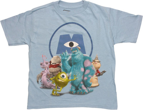 Monsters Inc Scare Group Juvenile T Shirt