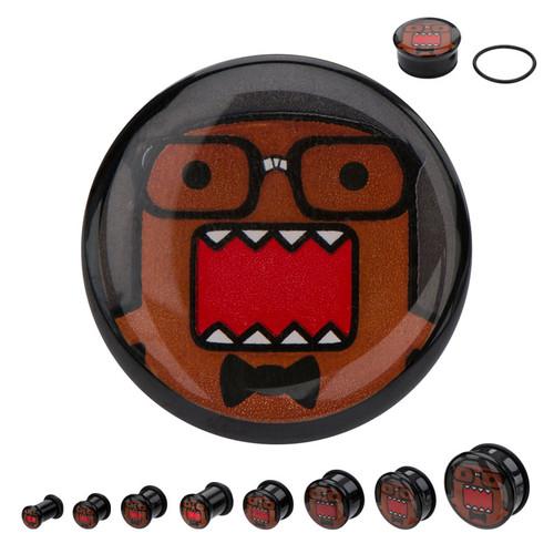 Domo Kun Nerd Acrylic Plugs