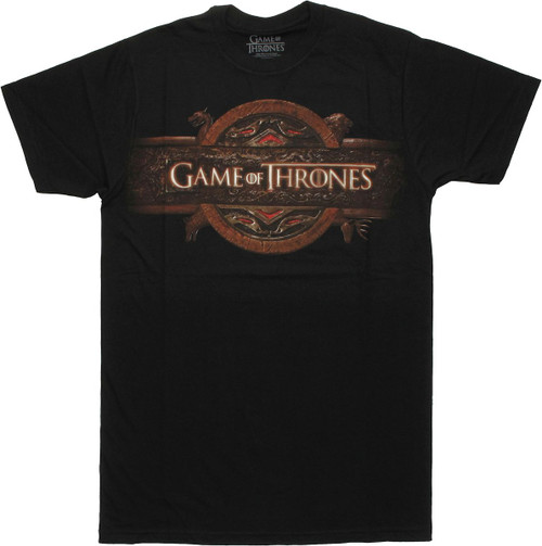 Game of Thrones Gray Name Logo T Shirt Sheer
