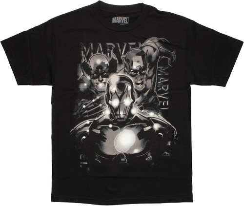 Marvel Grayscale Trio T Shirt