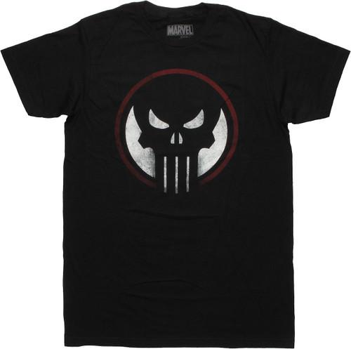 Punisher Dead Sight Logo T Shirt Sheer