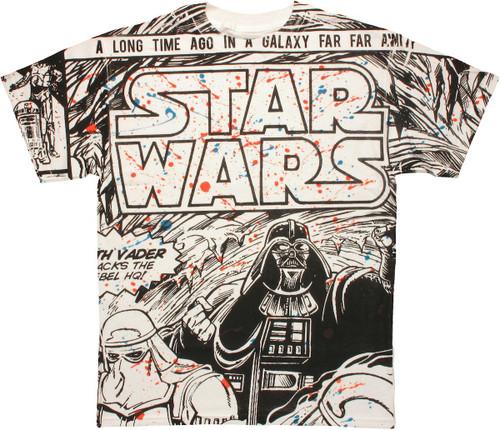 Star Wars Splatter Panel T Shirt