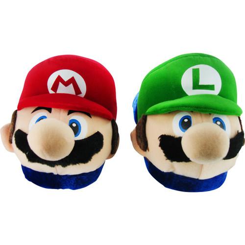 Mario Luigi 3D Head Slippers