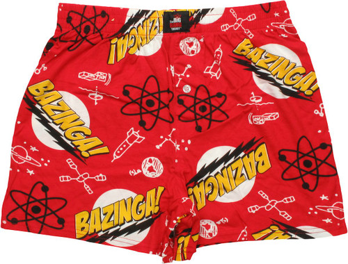 Big Bang Theory Bazinga Boxers