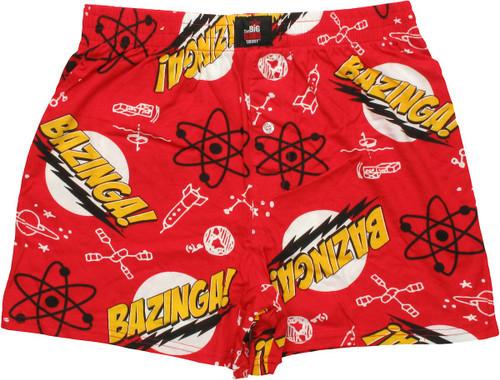Big Bang Theory Bazinga Boxers