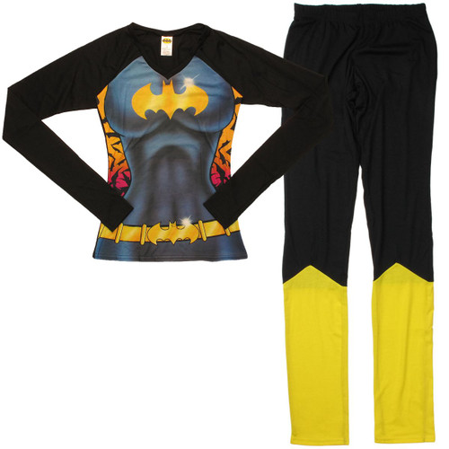 Batgirl Suit Long Sleeve Junior Pajama Set
