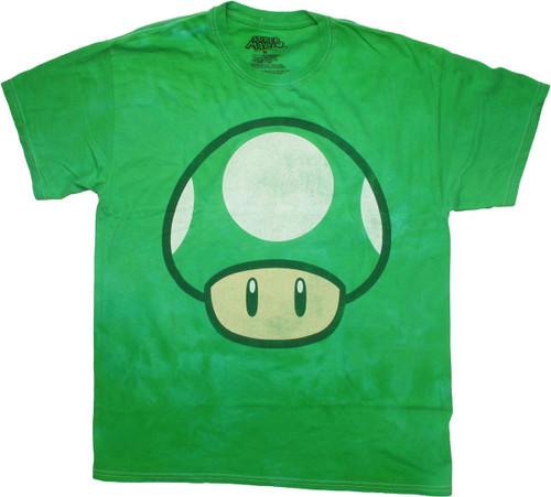 Nintendo 1Up Mushroom Tie Dye T Shirt