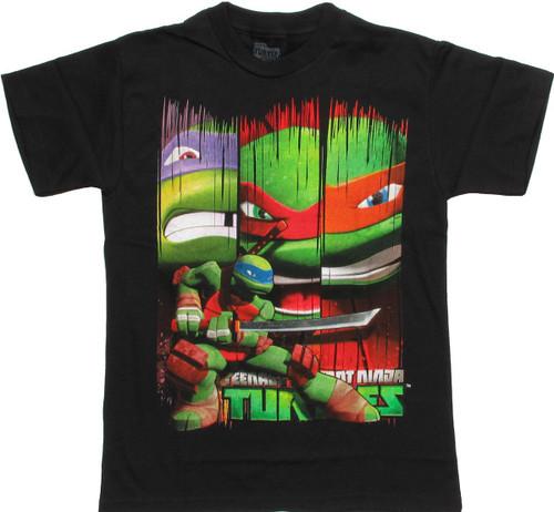 Ninja Turtles Leonardo Banners Youth T Shirt