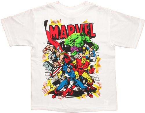 Marvel Burst Team Juvenile T Shirt