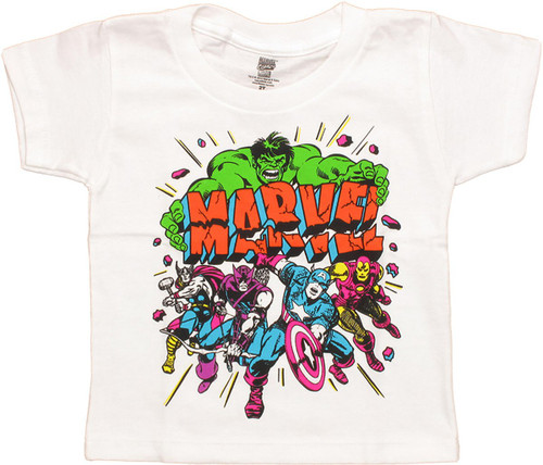 Avengers Cracked Marvel Toddler T Shirt