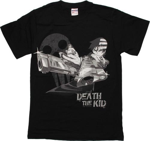 597590566c2 Soul Eater Death Kid Crossed Guns T Shirt t-shirt-soul-eater-death -kid-bw-crossed
