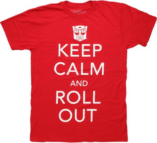 Transformers Keep Calm Roll Out T Shirt Sheer