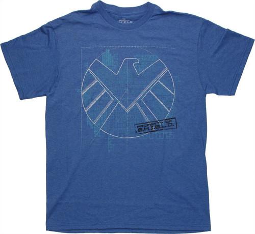 SHIELD Blueprint Logo T Shirt