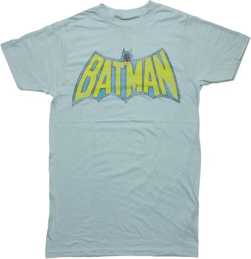 Batman TV Logo Blue T Shirt Sheer