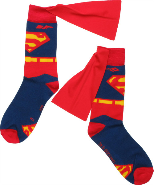 Superman Suit Caped Crew Socks