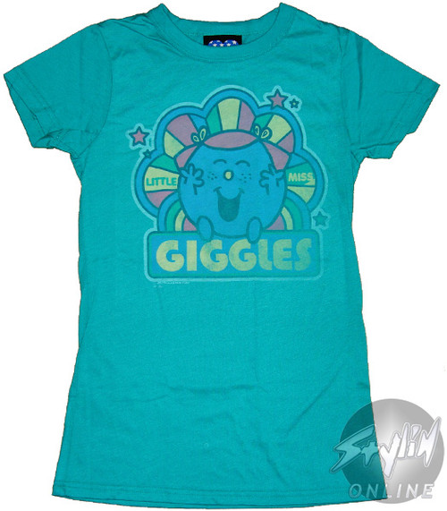Little Miss Giggles Rainbow Baby Tee