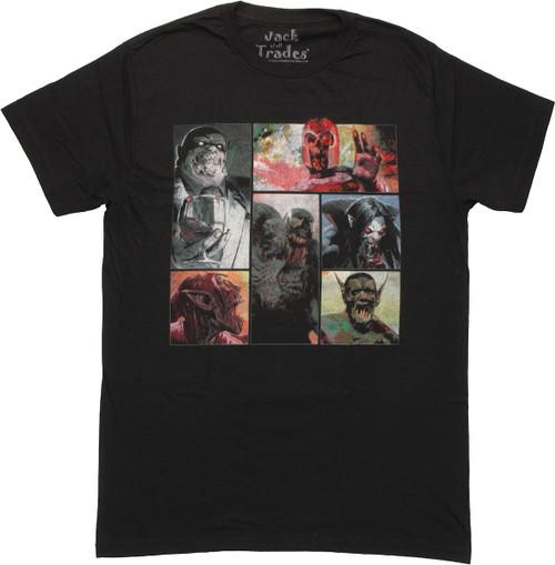 Marvel Zombies Villain Panels T Shirt Sheer