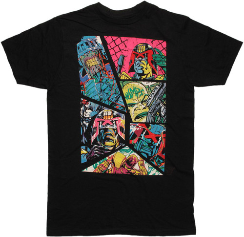 Judge Dredd Neon Panels T Shirt Sheer