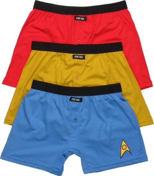 Star Trek Uniform Boxer Briefs Set