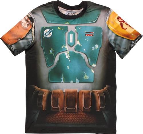 542bed97f Star Wars Boba Fett Sublimated Costume T Shirt Sheer