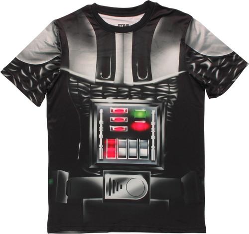Star Wars Darth Vader Sublimated Costume T Shirt Sheer