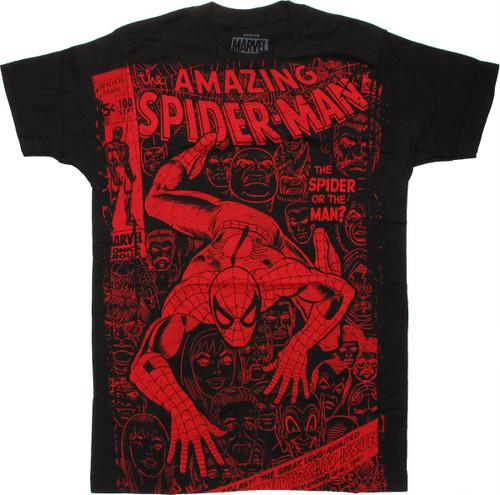Spiderman Spider or Man Vintage T Shirt Sheer