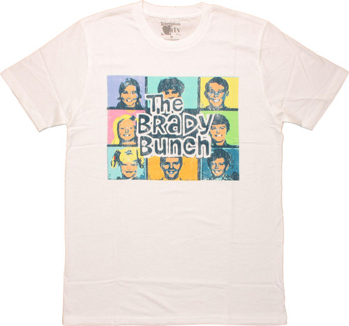 Brady Bunch Vintage Pastel Group T Shirt Sheer