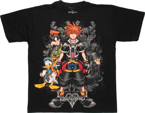 Kingdom Hearts Filigree Black T Shirt