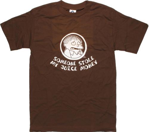 Simpsons Ralph Juice Money T Shirt