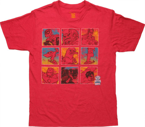 Phineas and Ferb Mission Marvel Grid T Shirt Sheer