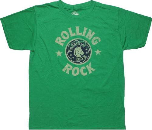 Rolling Rock Logo T Shirt Sheer