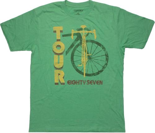 87 Bike Tour T Shirt Sheer
