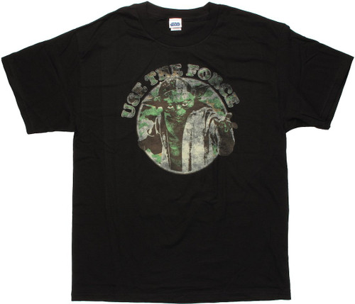 Star Wars Yoda Force Circle T Shirt
