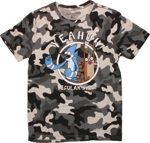 Regular Show Yeahuh Snow Camo T Shirt