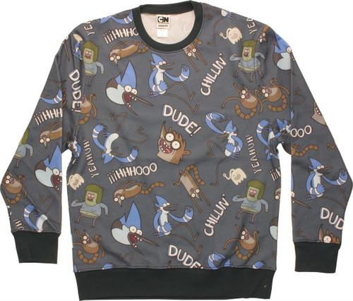 Regular Show Jumble Sublimated Sweatshirt