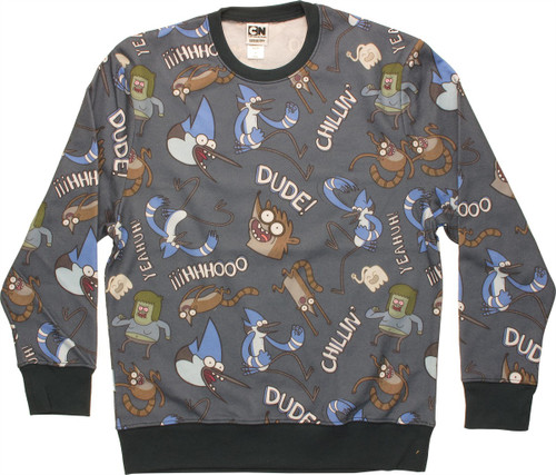 Regular Show Jumble Sublimated Sweatshirt