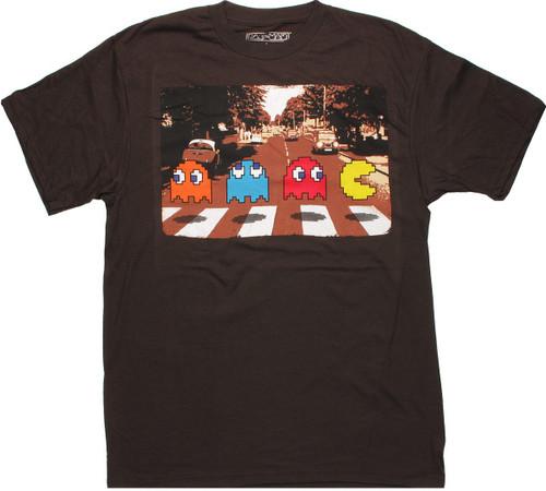 Pacman Crossing Brown T Shirt