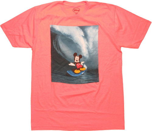 Mickey Mouse Surf Scare T Shirt Sheer
