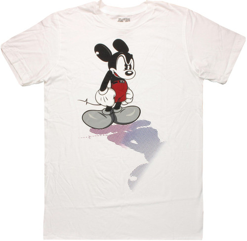 Mickey Mouse Halftone Shadow T Shirt Sheer