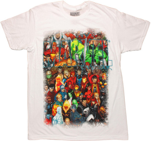 Marvel Group Through Name T Shirt